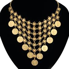 gold choker necklace wholesale images Gold coin necklace women jewelry wholesale gold color pretty jpg
