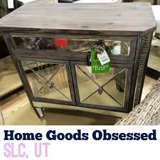 wood and mirrored console table ash wood and mirrored console for 199 99 score homegoods