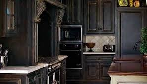 Distressed Black Kitchen Island Distressed Black Painted Kitchen Cabinets Exitallergy Com