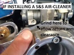 hs42 001 k mikuni hsr adapter kit harley cv u0026 s u0026s air cleaners