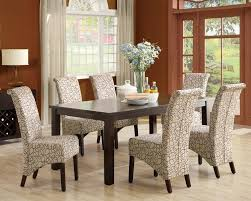 espresso dining room set decor lovely white and beige tufted color combined enchanting