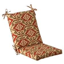 Perfect Chair Decor Cozy Pillow Perfect Outdoor Patio Chair Cushion In Red And