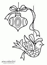 two christmas ornaments coloring page print color fun