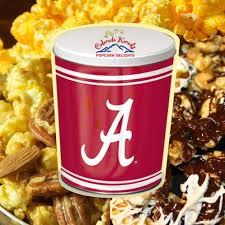 alabama tide 3 1 2 gallon gift tin tasty gourmet flavor popcorn