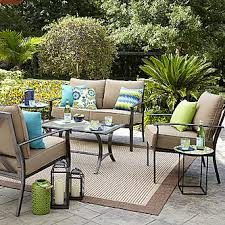 outdoor sitting garden oasis harrison 4 pc glass top outdoor seating set