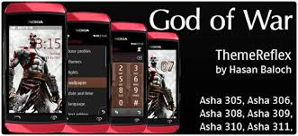 themes nokia asha 310 free download requested theme god of war theme for nokia asha 305 asha 306 asha