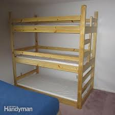 Bunk Bed Plans  Bunk Bed Designs And Ideas Family Handyman - Simple bunk bed plans