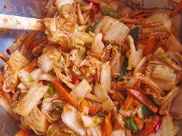 koreanische küche baechu kimchi chinakohl pikant nach koreanischer rezept mit