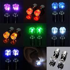 led earrings led earrings light up glowing studs ear ring drop