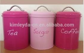 pink kitchen canisters metal kitchen canister set with wooden lid buy kitchen canister