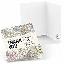 world awaits travel themed thank you cards 8