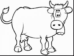 extraordinary printable coloring pages farm animals cow with cow