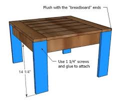 Outdoor End Table Plans Free by Ana White Ottoman Or Accent Table For Simple Modern Outdoor