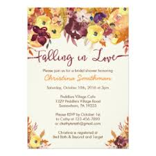 Wedding Shower Invites Fall Bridal Shower Invitations U0026 Announcements Zazzle