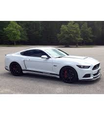 2007 Mustang Black Rims 2016 Mustang Gt With Roush Scoops Spoiler Accent Stripes Ford