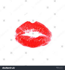 White Background Red Lipstick Kiss On White Background Stock Vector 603058394