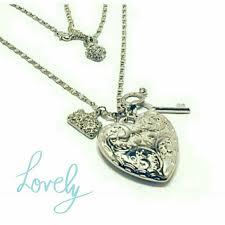 green heart necklace images Diane katzman jewelry diane katzman heart key trinket necklace jpg