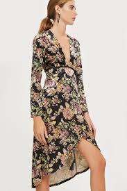 plunge dress velvet floral print plunge dress topshop