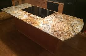 Kitchen Island With Granite Countertop Countertop Island Supports Hidden