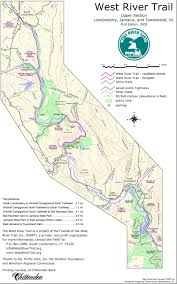 Vermont State Parks Map Upper Section Map U2013 The West River Trail