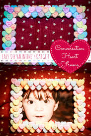easy diy valentines day gift diy conversation heart frame from www