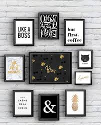 Black And Gold Room Decor Free Printable 10 Posters Black And Gold Office Spaces