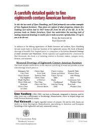 Famous Furniture Design Drawings Measured Drawings Of 18th Century American Furniture Ejner