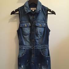 guess denim dress size 6 8 women u0027s fashion on carousell