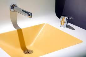 lavandino corian lavabo sospeso rettangolare in corian皰 moderno image 10 by