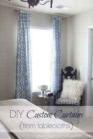 Custom Linen Curtains Office 20 Curtains Made From Tablecloths Linen Curtains Tie Top