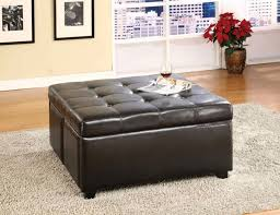 decoration ideas great square black leather tufted storage cube