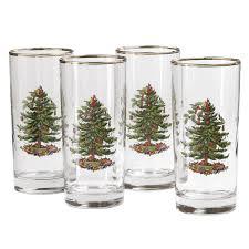 spode christmas tree highball glass set of 4 spode uk