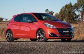 peugeot 208 gti blue 2016 peugeot 208 gti review video performancedrive