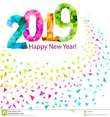Happy New Year 2019 stock vector Illustration of decoration  117886484