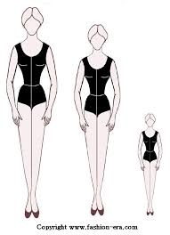 blank paper doll template front views