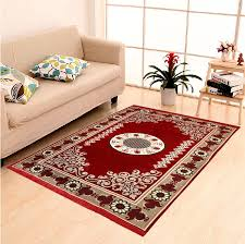 Ethnic Home Decor Online Shopping India by Buy Home Elite Ethnic Velvet Touch Abstract Chenille Carpet 55
