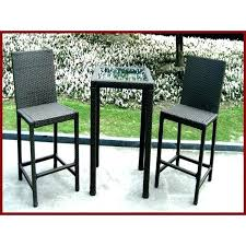 Wicker Bistro Table And Chairs Bar Height Bistro Set Outdoor Wrought Iron High Top Patio