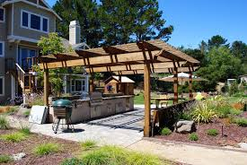 Outdoor Kitchen Countertops Ideas Kitchen Excellent Outdoor Kitchen With Lounge Dining Ideas