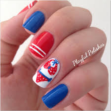 playful polishes 4th of july nail art