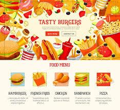 fast food restaurant menu template burger hamburger pizza