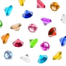 gems for table decorations amazon com acrylic color faux round crystals treasure gems