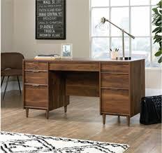 Sauder File Cabinets Outlet Sauder Clifford Place Mid Century Executive Desk Walnut