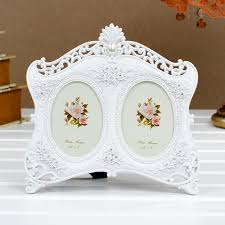 wedding gift photo frame 5 polyresin carving rhinestones picture frame gift for