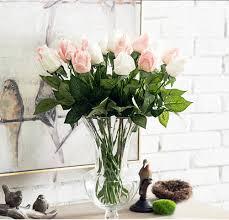 kashinfuh 20 pcs artificial fake moisturizing rose flowers wedding