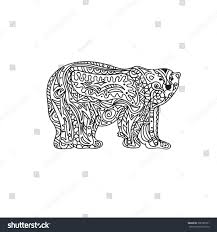 polar bear coloring page stock vector 300785921 shutterstock