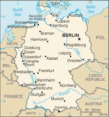 geographical map of germany geography for germany