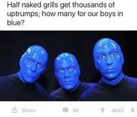 Blue Meme - how many upvotes for our boys in blue know your meme