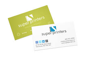 Vancouver Business Card Printing 2 Colour Business Card Printing With Super Printers