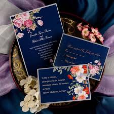 navy and blush wedding invitations peony navy blue printable vintage wedding invitations