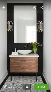 Guest Powder Room Beautiful Powder Room Contemporary Half Bath Black And White